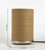 Craftter Brown Fabric Table Lamp