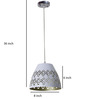 Craftter Mugal Jali White & Gold 0.5W LED Hanging Lamp