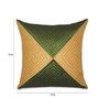 Creative Homez Beige & Green Polyester 16 x 16 Inch Self Design Cushion Cover