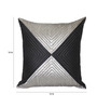 Creative Homez Black & Grey Polyester 16 x 16 Inch Abstract Cushion Cover