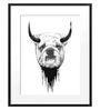 DailyObjects Paper Bull Dog Framed Art Print