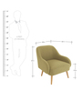 Dairlia Accent Chair in Green Colour by Madesos