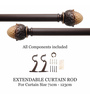Deco Window Roman Bronze Iron 28 Inch Extendable Curtain Rod