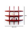 AYMH Red MDF Globe-Shaped Wall Shelf