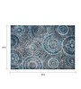 Designs View Blue Fine Indian Blended Wool 90 x 63 Inch Hand Tufted Floor Covering Spiral Design Carpet