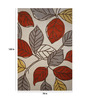 Designs View Multicolour Wool 120 x 78 Inch Hand Tufted Contemporary Leaf Design Area Rug