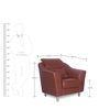 Diva One Seater Sofa in Brown Finish by Godrej Interio
