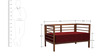 Dominico Two Seater Sofa in Red Colour by Auspicious Home