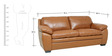 Doris Three Seater Sofa in Tan Brown Colour by Star India