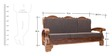 Downing Teak Wood Sofa Set (3 + 1 + 1) Seater in Natural Teak Finish by Finesse