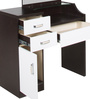 Dressing Table and Stool in White & Wenge Colour by Penache Furnishings