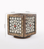 eCraftindia Brown Wooden Ornate Pen Stand