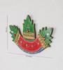 eCraftindia Green Papier Mache Stone Studded Leaves Key Holder