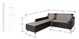 Elite Two Seater Sofa with couch in Black Colour by Crystal Furnitech