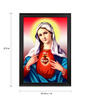 Elegant Arts and Frames Canvas 27.5 x 37.5 Inch Immaculate Heart of Mary Framed Art Print