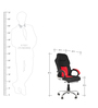 Executive Chair in Black & Red Color by Karigar