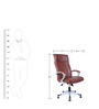 Executive High Back Chair in Brown Colour by Star India