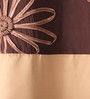 Eyda Gold Polyester 53 x 84 Inch Satin Tape Black Out Door Curtains - Set of 2