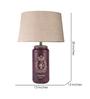 Fabuliv Beige Jute Vintage Arrow Small Table Lamp