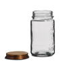 Fabuliv Transparent Cylindrical 500 ML Jar with Lid - Set of 3
