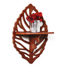 Fastball Eclectic Wall Shelf in Brown by Bohemiana