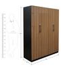 Four Door Wardrobe in Dark Brown Colour by Parin
