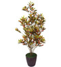 Fourwalls Multicolor Polyester 760 Leaves Artificial Croton Floor Plant