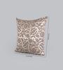 Foyer Beige Silk 16 x 16 Inch Happ Cushion Cover