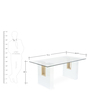 Fusion Six Seater Dining Set in White Colour by @Home