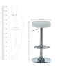 Garry cafeteria cum Bar Stool in White Colour by The Furniture Store