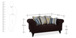 Gilberto Two Seater Sofa with Cushions in Chestnut Brown Colour by CasaCraft