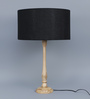 Grated Ginger Black Cotton Table Lamp