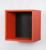 Cerignola Set Of 2 Wall Shelf  In Red And Black By Casacraft