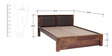 Dewey King Bed in Provincial Teak Finish by Woodsworth