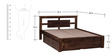 Belmont Queen Bed with Storage in Provincial Teak Finish by Woodsworth