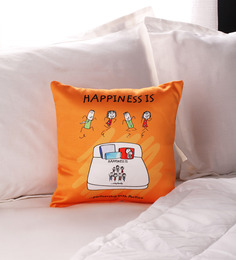 Happiness Pillow In Yellow Colour By Portico