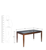Hampshire Six Seater Dining Table in Brown Colour by @ Home