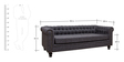 Sanford Three Seater Sofa in Grey Colour by Amberville
