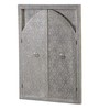Heera Hastkala Grey Mango Wood Metal Fitted Framed Mirror