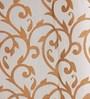 HomeStop Rust Poly Sheer 48 x 84 Inch Ivy Door Curtain - Set of 2