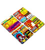 Horn OK Coaster Set with Stand (Set of 4) by Mad(e) in India