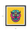 Hulkut Wooden 26 x 26 Inch Funky Owl Framed Digital Art Print