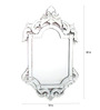 Campion Decorative Mirror in Silver by Amberville