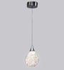 Jainsons Emporio Designer Metallic Silver Metal Hand Woven Small Pendant Lamp