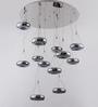 Jainsons Emporio Silver Aluminium Ruba 12 Light LED Ceiling Mounted Chandelier