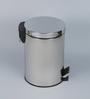 JJ Sanitaryware MC 03 Silver 8 L Dustbin