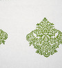 Jodhaa Paisley White & Green Cotton Table Mats - Set Of 8