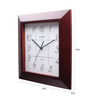 Kaiser Cola Wooden 13 x 13 Inch Brown & white with Black Digits Square frame Clock