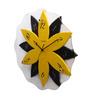 Kaiser Yellow & Black Glass 15.9 Inch Round Wall Clock