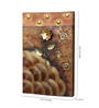 Kokoon Canvas 15.5 x 1.5 x 23.5 Inch Oil & Metal Work Wall Painting